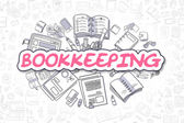 Fotografie Bookkeeping - Cartoon Magenta Text. Business Concept.