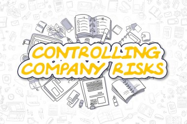 Controlling Company Risks - Business Concept.