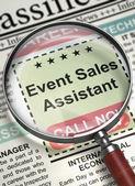 Fényképek We are Hiring Event Sales Assistant. 3D.