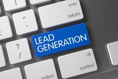 Lead Generation Button. 3D.