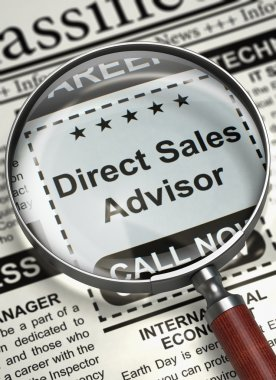 Direct Sales Advisor Join Our Team. 3D.