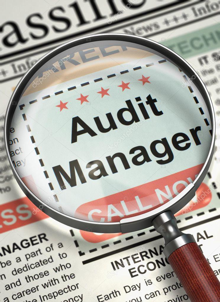 Were Hiring Audit Manager. 3D. — Stock Photo © tashatuvango #126861980