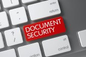 Document Security - Red Key. 3D.