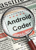Android Coder Join Our Team. 3D.