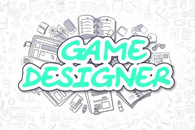 Game Designer - Doodle Green Inscription. Business Concept.