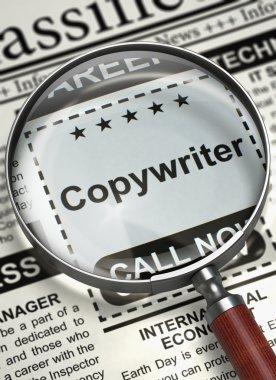 Copywriter Job Vacancy. 3D.