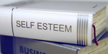 Book Title on the Spine - Self Esteem. 3D.