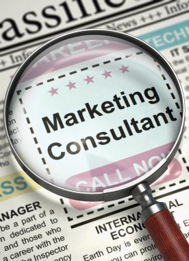 Now Hiring Marketing Consultant. 3D.