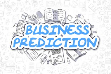 Business Prediction - Cartoon Blue Word. Business Concept.