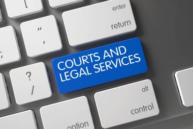 Courts And Legal Services Key. 3D.
