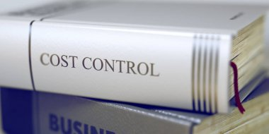 Cost Control Concept on Book Title. 3D.