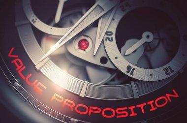 Value Proposition on the Elegant Watch Mechanism. 3D.