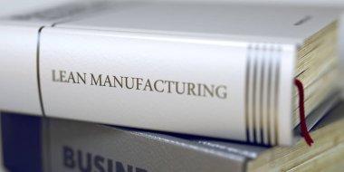Lean Manufacturing - Book Title. 3D.