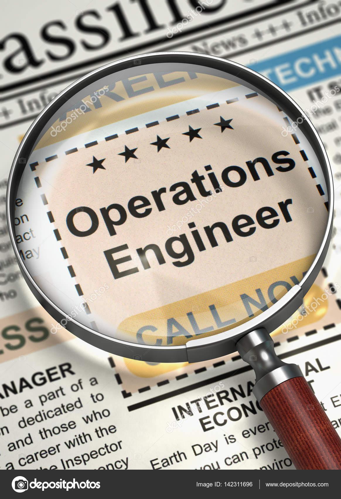 Operations Engineer Job Vacancy. 3D. — Stock Photo © tashatuvango ...