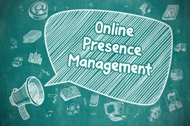 Online Presence Management - Business Concept.