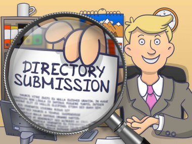 Directory Submission through Lens. Doodle Concept.