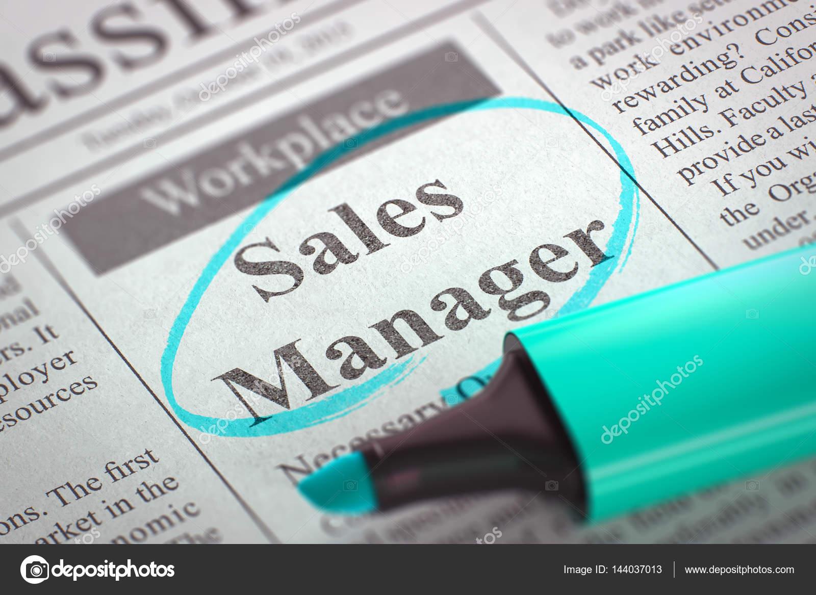 We are Hiring Sales Manager. 3D. — Stock Photo © tashatuvango ...