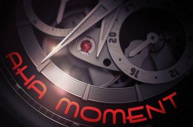 Aha Moment on the Fashion Watch Mechanism. 3D.