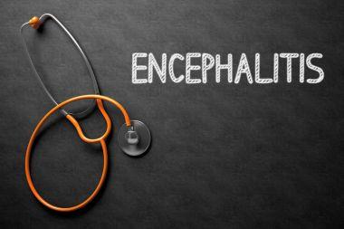Encephalitis Handwritten on Chalkboard. 3D Illustration.