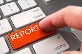 Hand Finger Press Report Button. 3d.