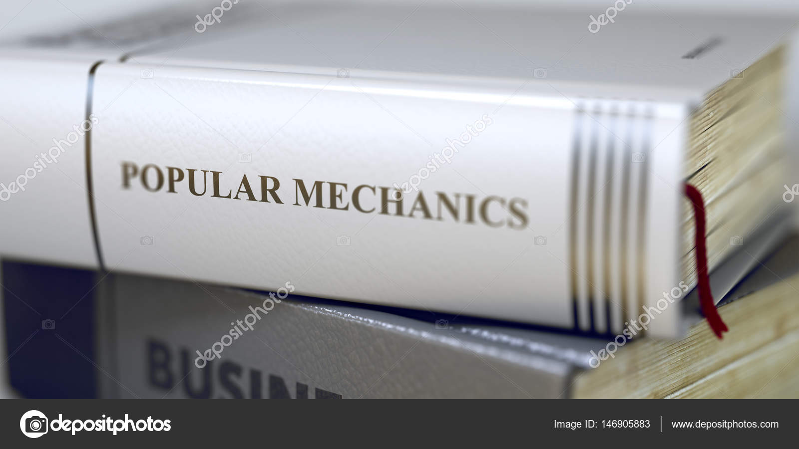 Book Title On The Spine Popular Mechanics 3d Stock Photo