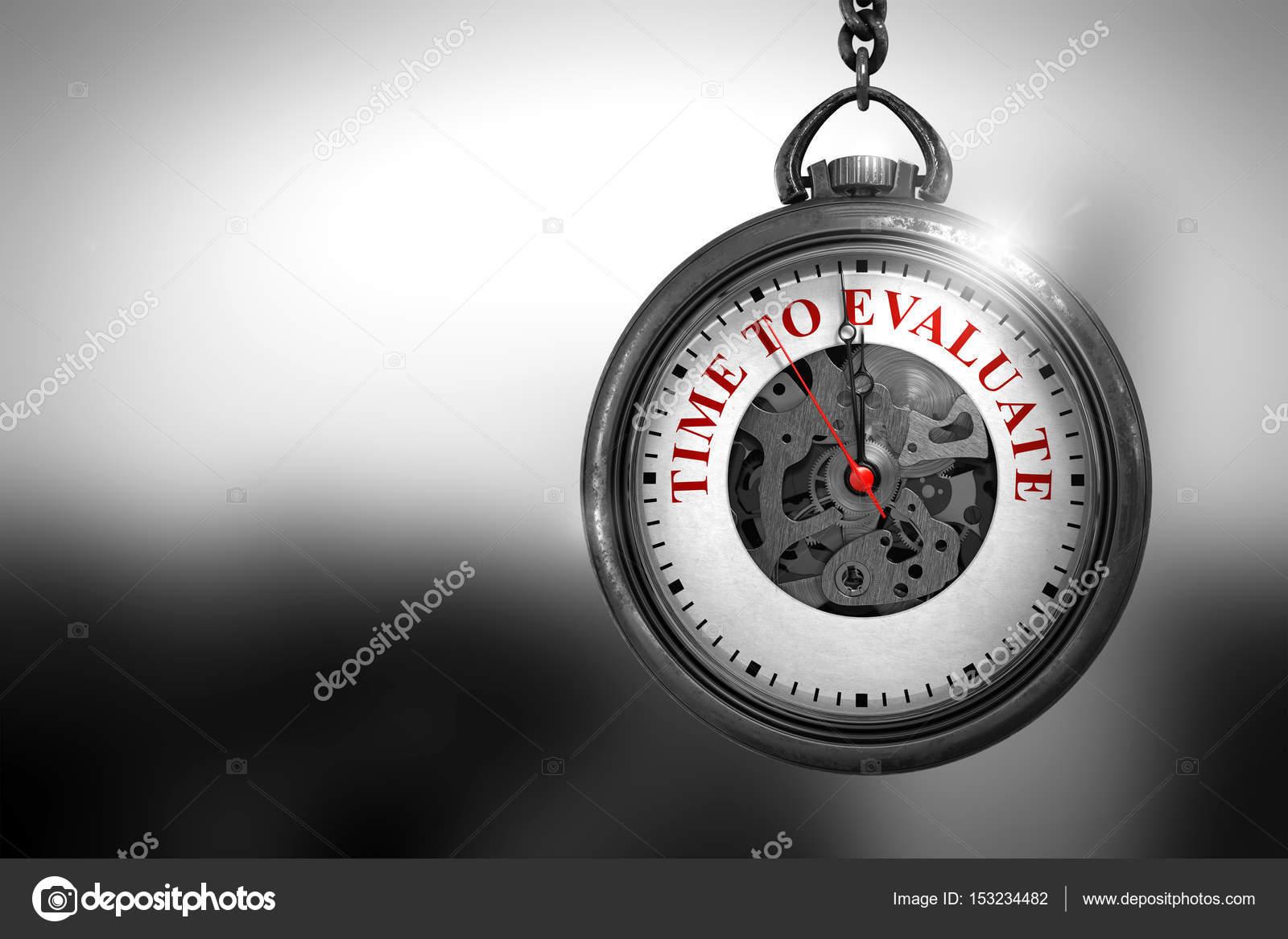 Horloge Om tijd om te evalueren op het horloge gezicht. 3d illustratie