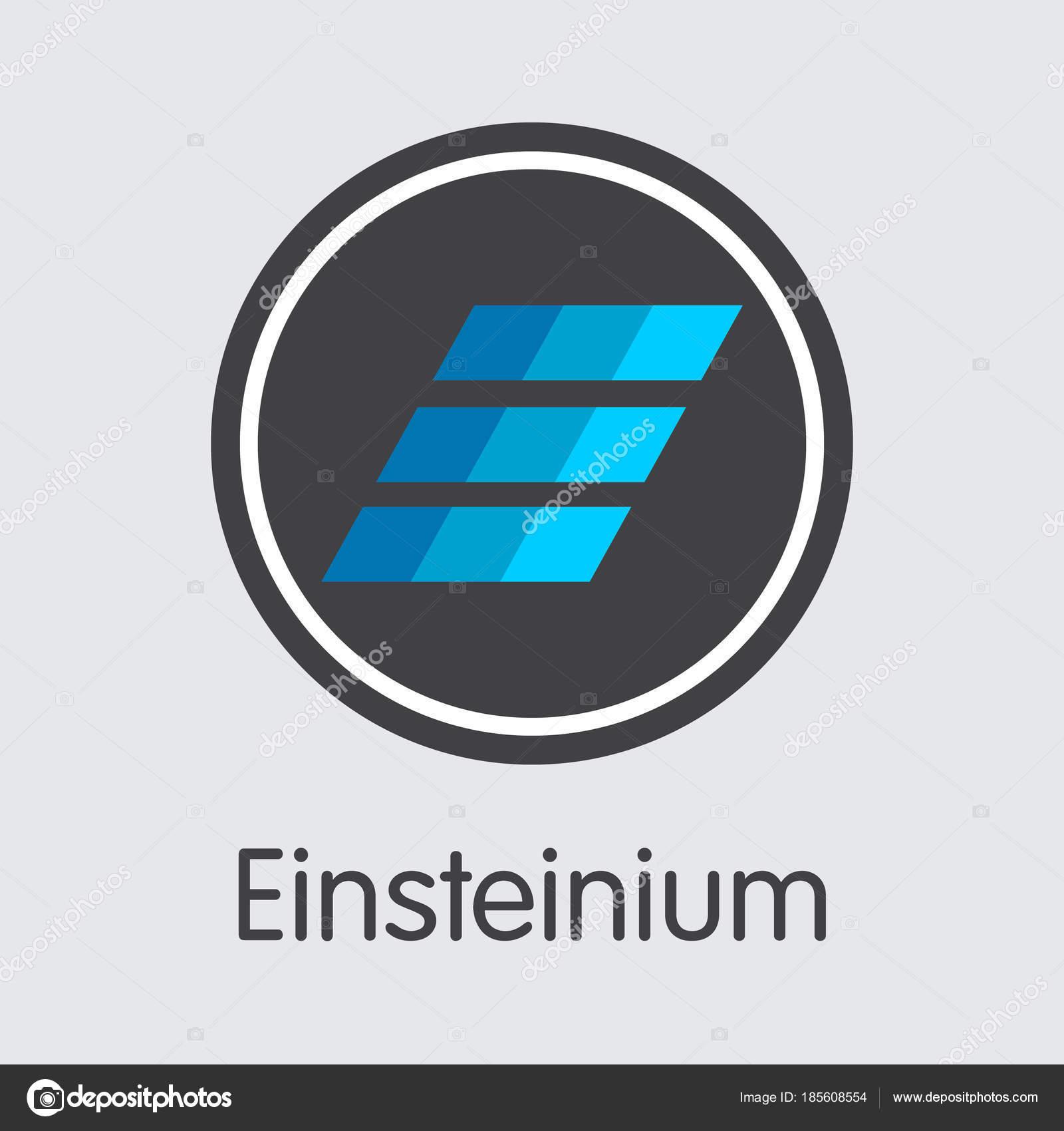 Einsteinium Crypto Currency Vector Emc2 Graphic Symbol Stock