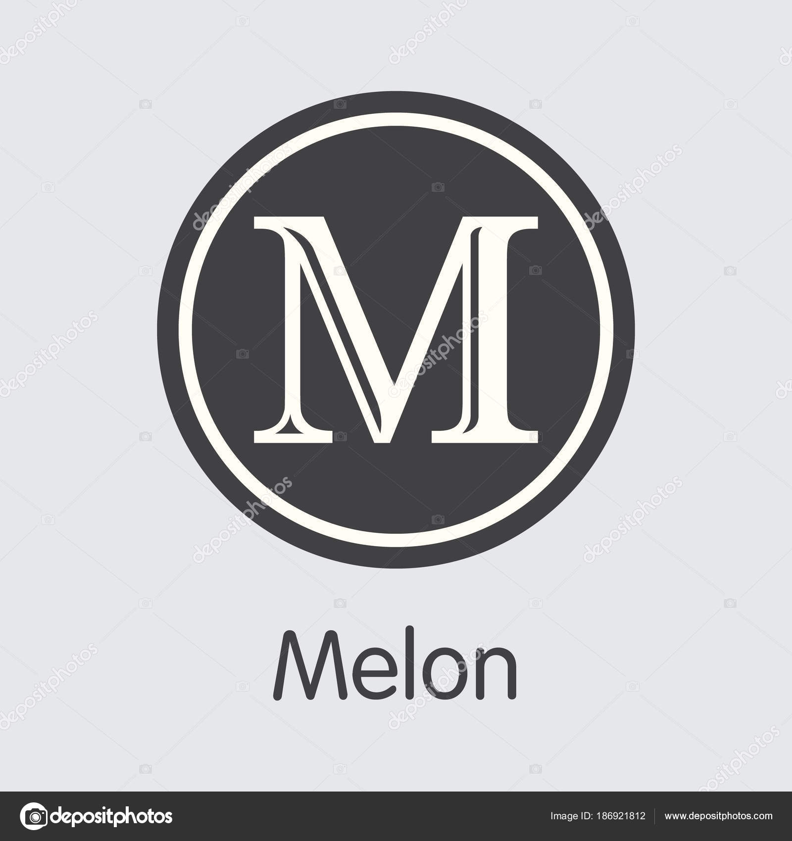 Melon Crypto Currency Coin Vector Coin Symbol Of Mln Stock