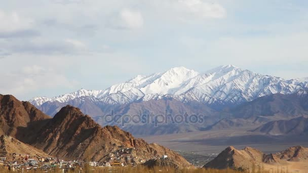 View of Namgyal Tso Monastery on the mountain and lanscape of Leh, Ladakh, India