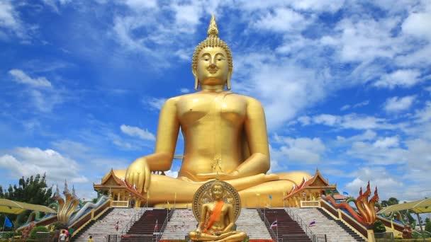 Big Golden Buddha Statue in Wat Muang, Ang Thong Province, Thailand