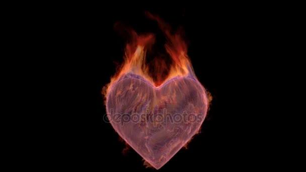 burnig heart loop 4k