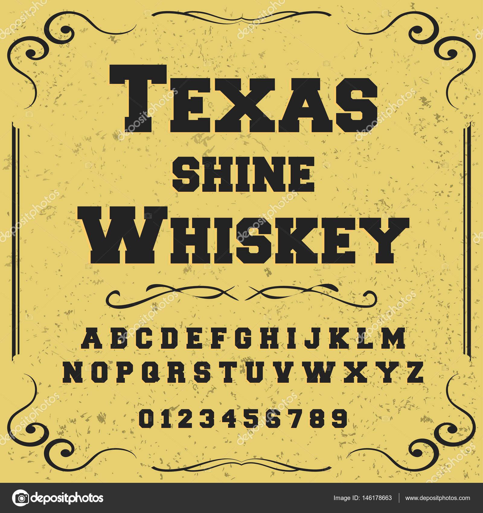 Script Typeface Font-vintage texas shine whiskey script font