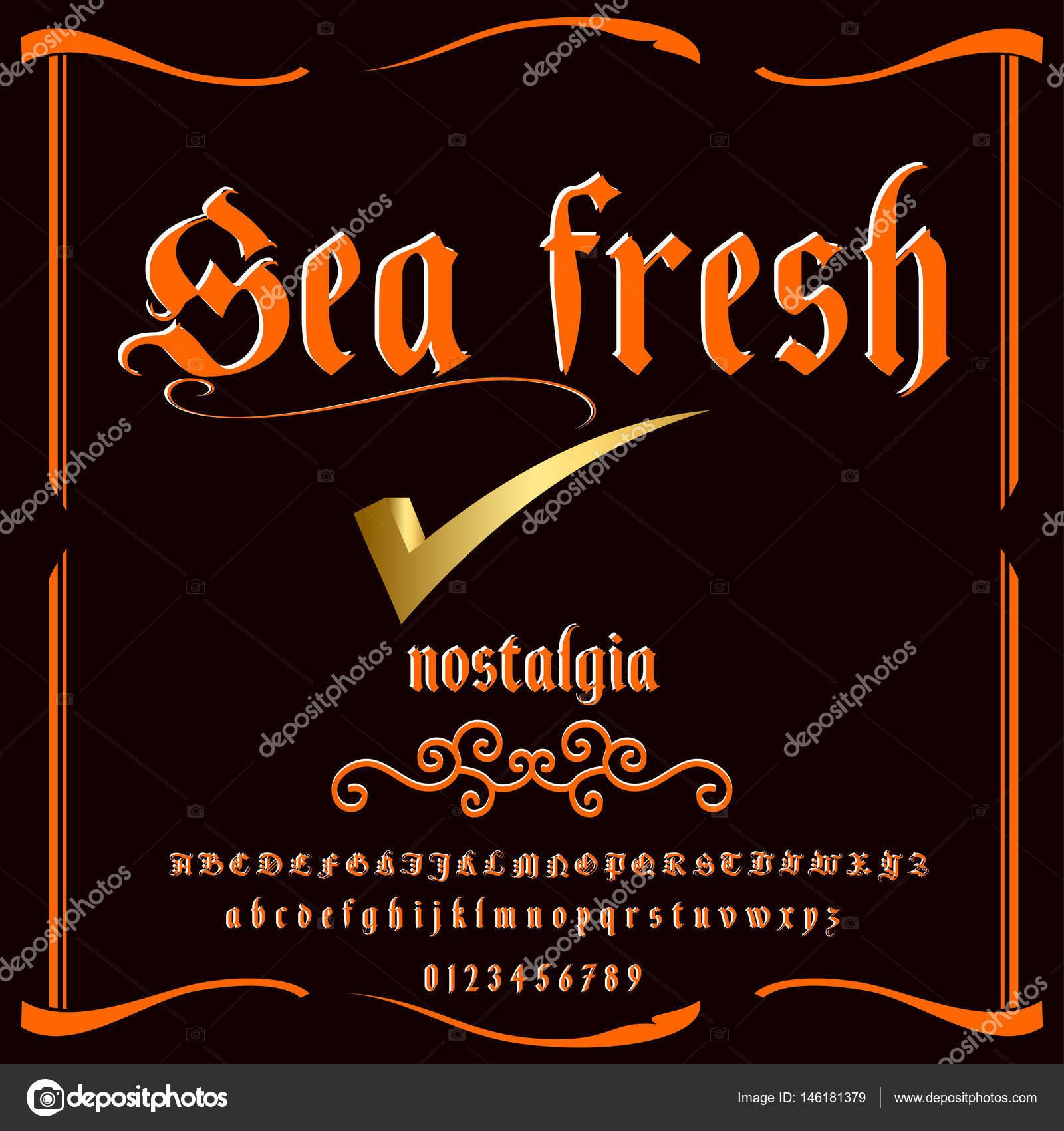 Font Script-Typeface Classic literature vintage script font