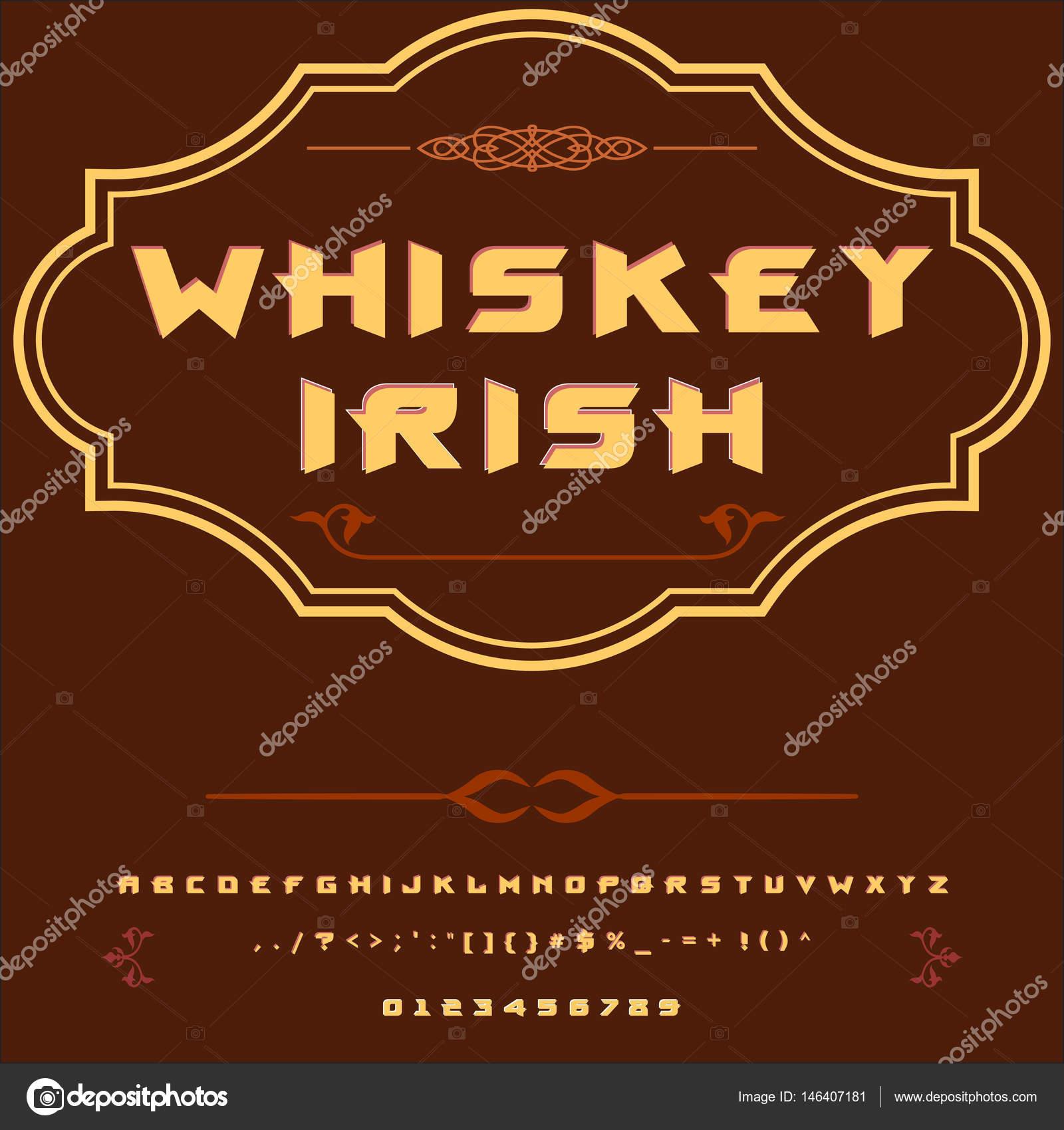 Script Font Typeface Whiskey irish-vintage script font