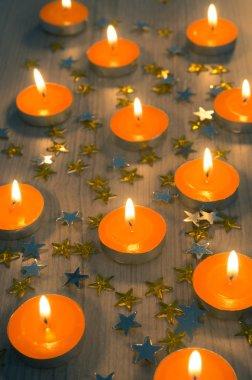 Christmas orange candles