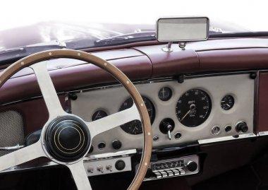 Dashboard of old classic car