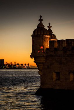 Belem Tower on river Tagus