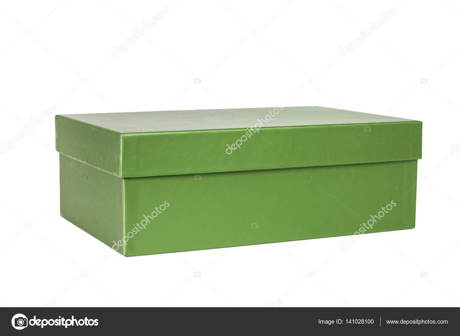 95dc89903 Zelená papírová krabice na boty — Fotografie od ...