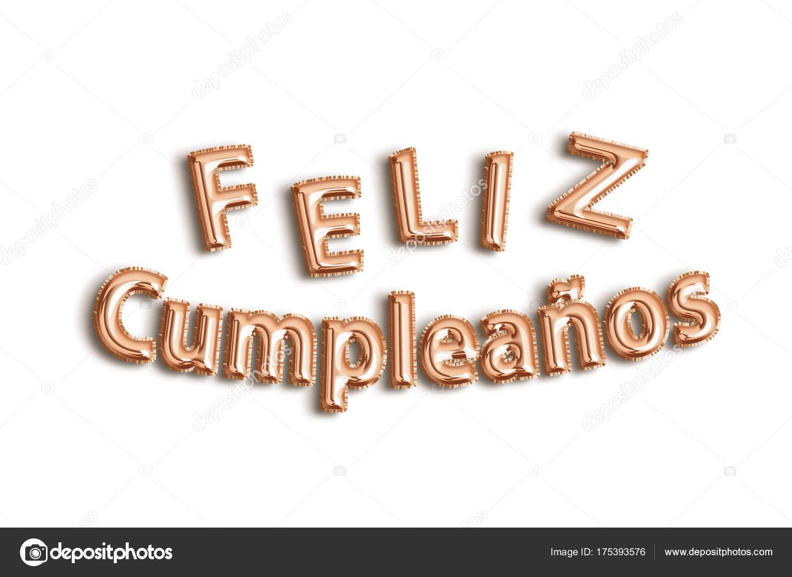 Alles Gute Zum Geburtstag Auf Spanisch Stockfoto C Jlserrano