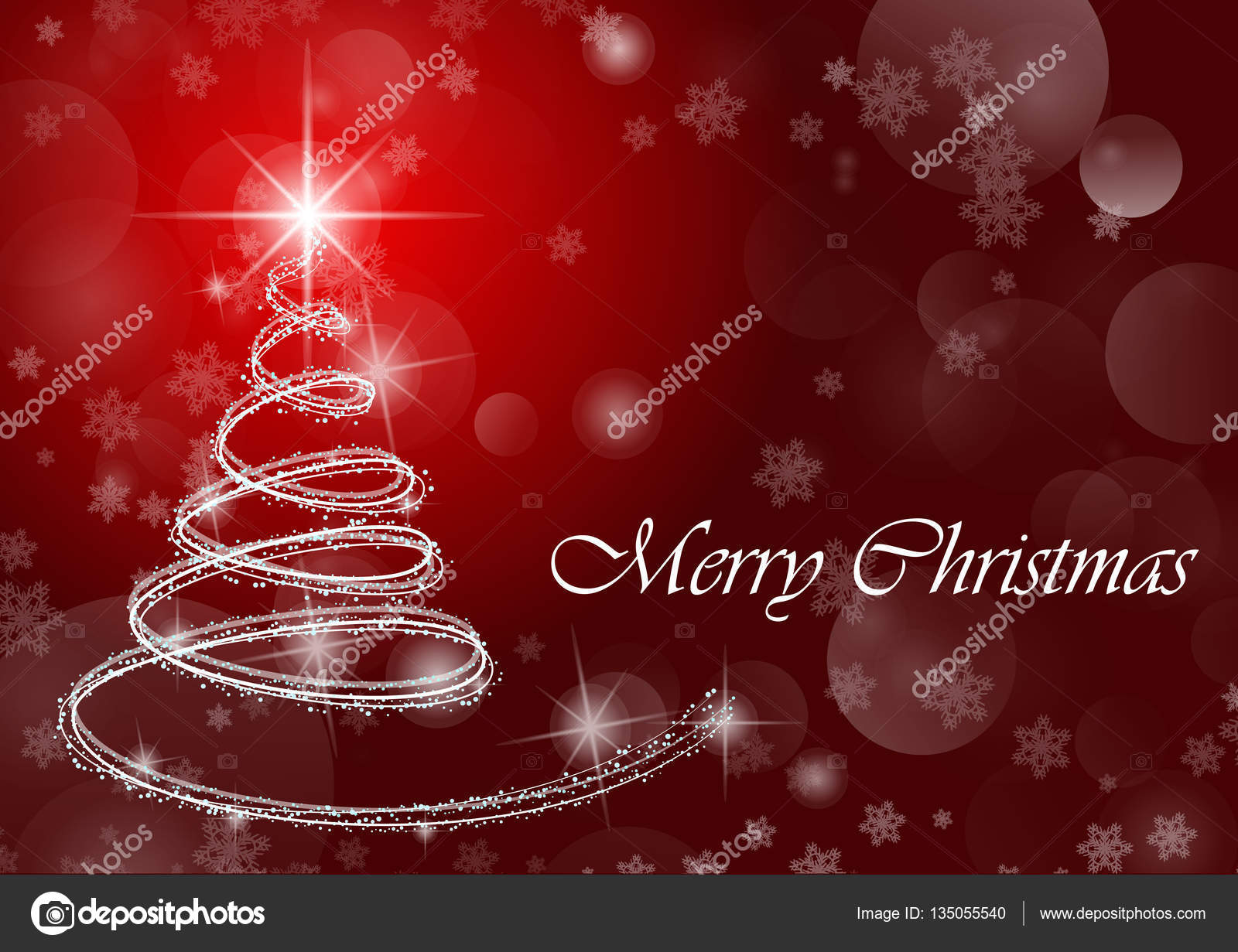 Merry Christmas Wallpaper.Merry Christmas Wallpaper With Tree Stock Photo