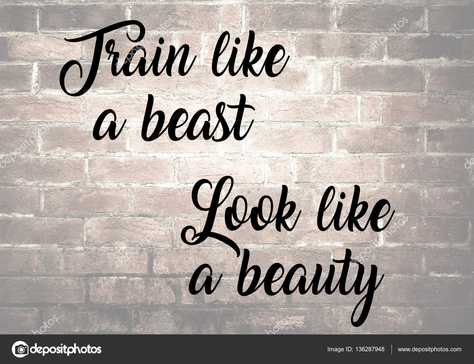Fitness Motivation Quotes Stock Photo Jakysinka 136287948