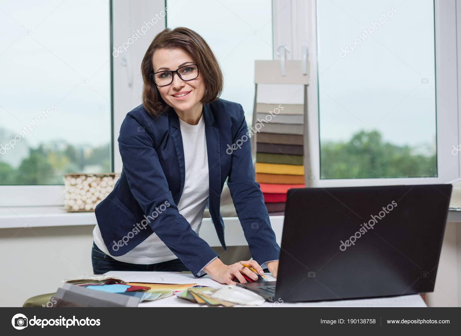 Wonderful Depositphotos_190138758 Stock Photo Designer Or Architect Posing And