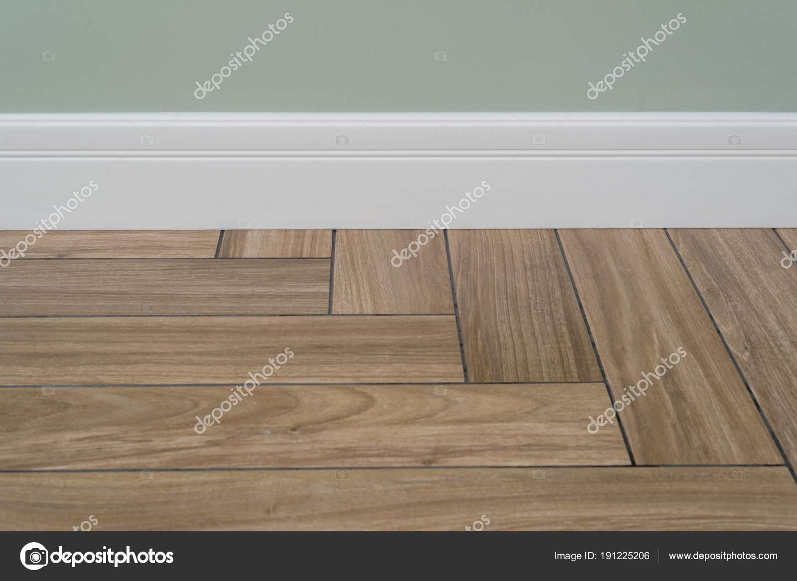 Concetto di interni pavimentazione del legno duro imitare luce