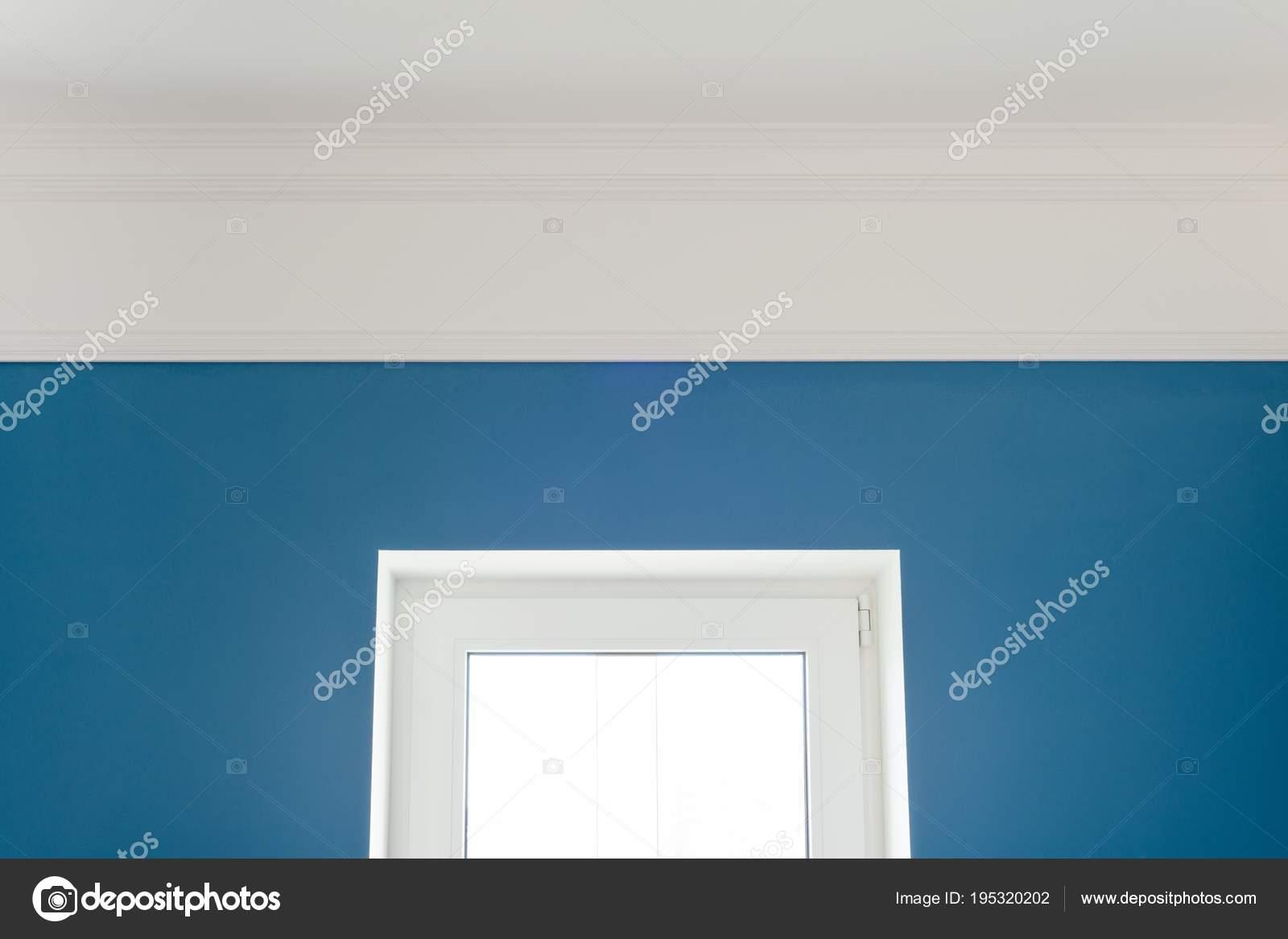 Molduras De Techo Pintadas Detalles En El Interior Molduras - Paredes-pintadas-de-azul