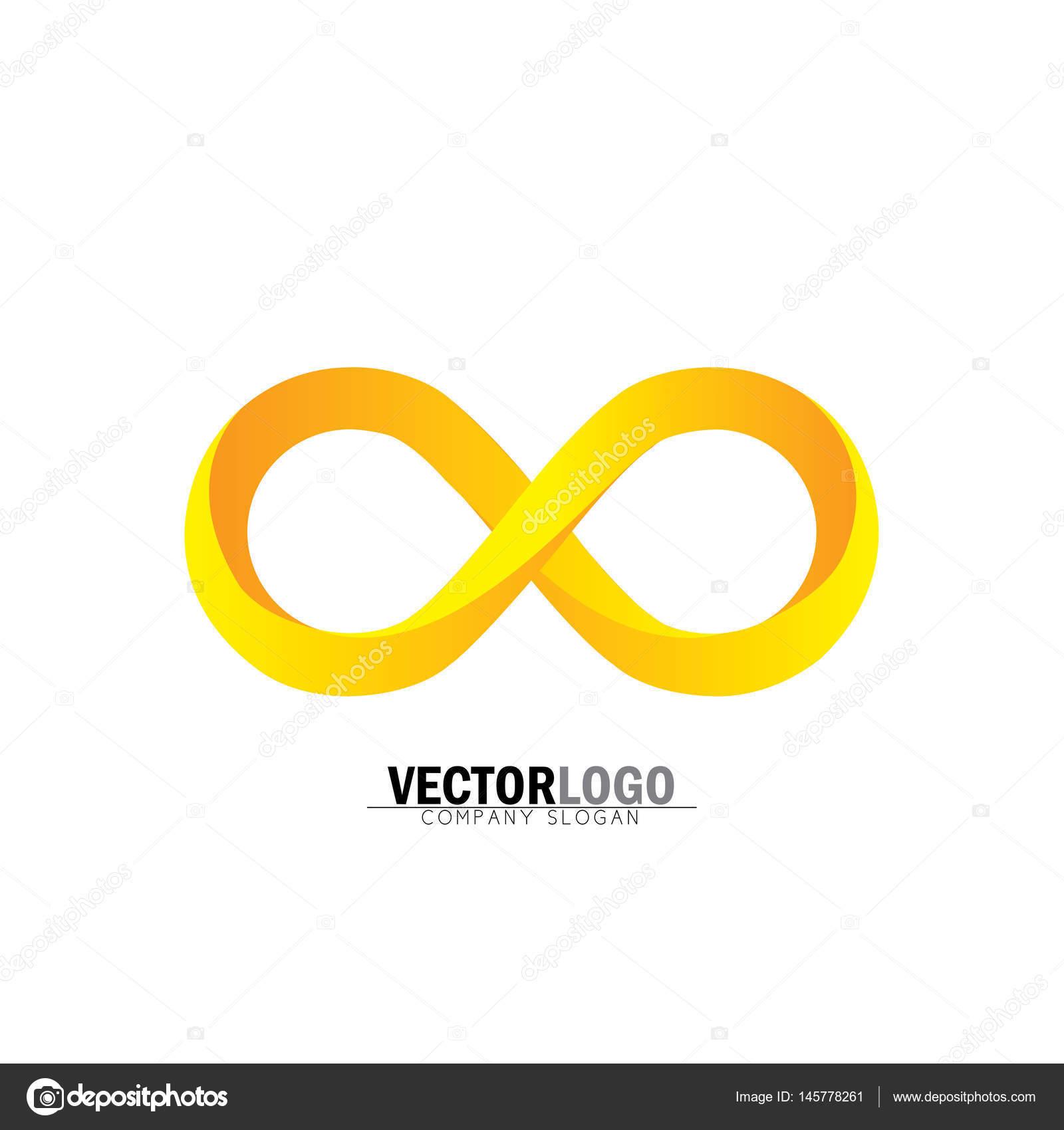 Infinity Nebo Nekoneno Symbol V Lut A Oranov Vektorov Logo