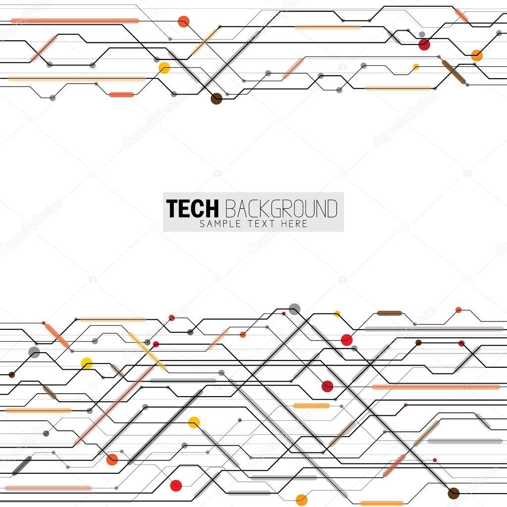 Vector illustration abstraite futuriste circuit imprimé fond ...