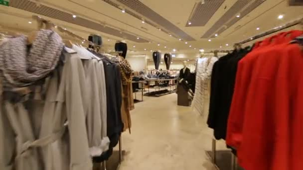 fashion store with new stylish clothes