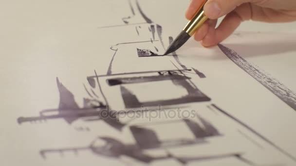 művész befejező gyárépület vázlat
