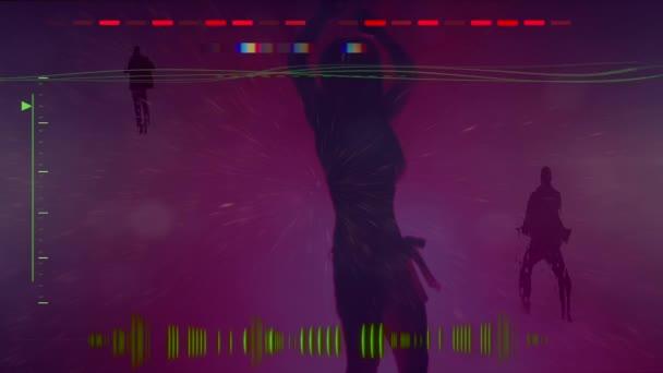 Night club, sound waves