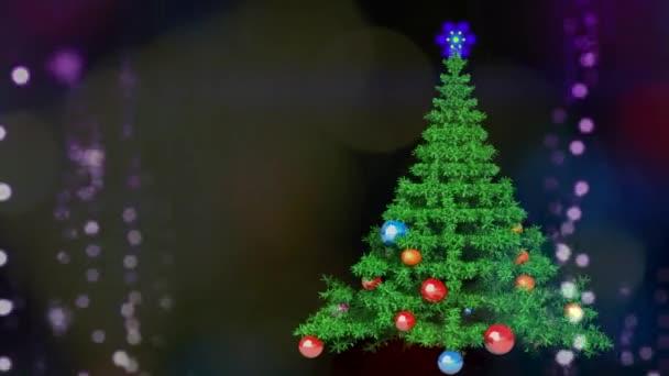 Nový rok, šumivé otočná animace vánoční stromeček